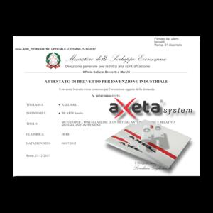 Sistema via radio bidirezionale brevettato AXETA