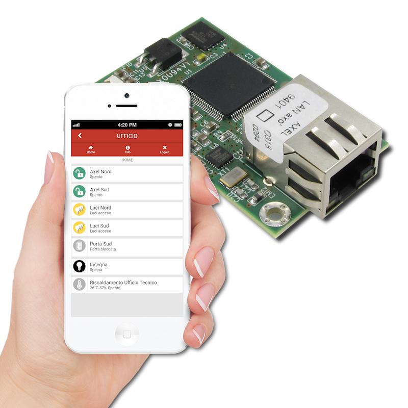 Modulo collegamento di rete per sistemi d'allarme Axel Srl